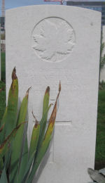 Grave marker– This is Herbert Neilan's grave marker.  He was born in Montreal on 14/10/1883 and enlisted at Montreal on 19/7/1915.  He was an ironworker by occupation.