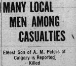 Newspaper clipping– Clipping from Calgary Daily Herald June 10, 1916.