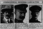"""Newspaper clipping– newspaper clipping The Calgary Herald June 5, 1916 Headlines: """"Fearful Death Toll Among Canadian Officers at the Ypres Front is Reported"""" """"The Flag is Flying at Half-Mast The flag is flying at half-mast at Rideau Hall for Lieut. Col. Buller of the Princess Patricia's.  He was an aide at Rideau Hall when the war broke out and joined the Princess Patricia's in Ottawa as adjutant. On the death of Col. Farquhar early in the war, he was promoted to commander.  He was severely wounded in one of the great stands made by his famous regiment but later recovered and returned to his battalion."""""""