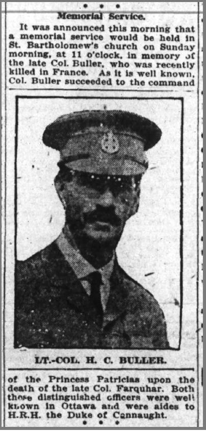Newspaper Clipping– Ottawa Journal (June 9, 1916)