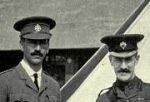 Group photo– Photo Photograph of then Capt. Buller with Lieut. Col. F. D. Farquhar, D.S.O., officer commanding the Princess Patricia's Canadian Light Infantry.  Capt. Buller was promoted to commanding officer upon the death of Lt. Col. Farquhar. Source:  Canada in the Great War, Vol. II, Days of Preparation. United Publishers of Canada Limited, Toronto.  View online at www.archives.org