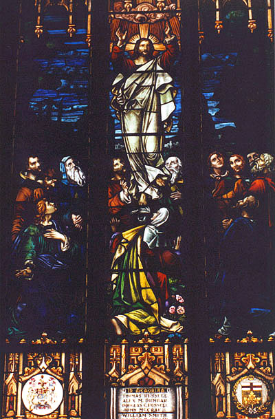 Memorial Stained Glass– St Andrews Church, 161 Norfolk, Guelph, Ontario
