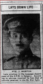 Coupre de presse – Calgary Daily Herald 3 mai 1916