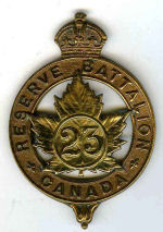 Badge– Cap badge of the 23rd Bn which he originally joined before being sent to the 15th Bn as a reinforcement. Photo BGen Young 15th Bn Memorial Project.  DILEAS GU BRATH