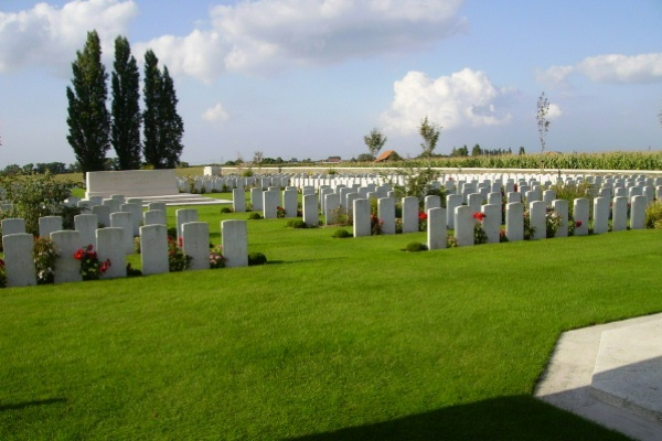 Cemetery– Passchendaele New British Cemetery … photo courtesy of Marg Liessens