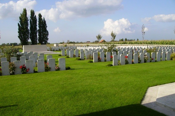 Cemetery– Passchendale New British Cemetery … photo courtesy of Marg Liessens