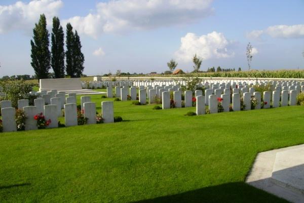 Cemetery– Passchendaele New British Cemetery … photo courtesy of Marg Liessens