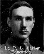 Photo of Percy Barber– From: The Varsity Magazine Supplement published by The Students Administrative Council, University of Toronto 1916.   Submitted for the Soldiers' Tower Committee, University of Toronto, by Operation Picture Me.