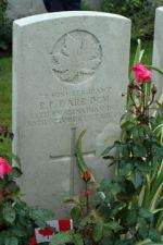 Grave Marker– Sgt R.P. Barr DCM Gravemarker, Tyne Cot Belguim