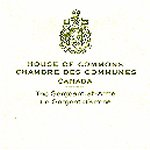 lettre – Letter from House of Commons
