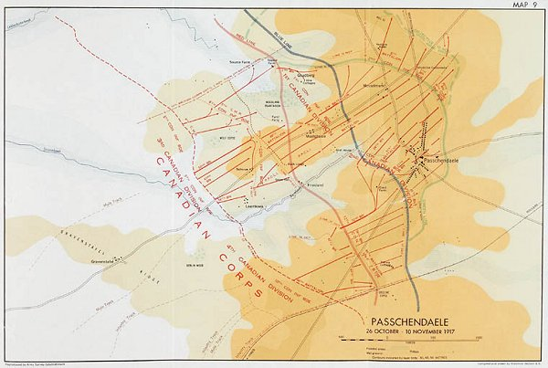 3rd Battle of Ypres Map