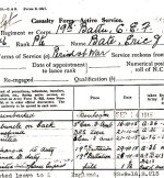 Casualty Report and Service Record