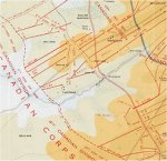 3rd Battle of Ypres Map– Trench map of the Battle of Passchendaele