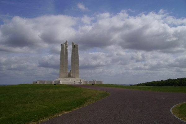 Vimy Memorial– August 2012 … Private Arthur Norman McLeod is also buried at Tyne Cot Cemetery, Belgium. Photo courtesy of Marg Liessens