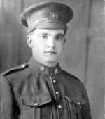 Photo of Dominick Naplava– Dominick Naplava in uniform of 223rd Battalion (Canadians Scandinavians) CEF, February 1917.