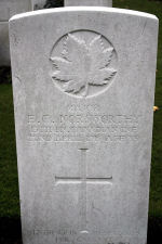Grave Marker– Photo Courtesy of Wilf Schofield, England.  Major Norsworthy's brother, Lieut. Alfred Norswsorthy was killed while serving in the 73th Battalion of the Royal Highlanders of Canada, as was the 13th Battalion. Their brother, John Weldon, enlisted in the No. 6 McGill (OS) Battery Siege Artillery in May 1916..