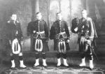 Group Photo– Norsworthy brothers all fought in the Royal Highlanders of Canada, but in different battalions.  Left to right, they are: Edward, Weldon, Alfred, Stanley Major Edward Norsworthy was killed 22.04.15 and his younger brother, Lieut. Alfred Norsworthy, was killed in 29.03.1917. Photo is courtesy of the Norsworthy family and used with permission of Anne Brooks of www.annebrooks.ca