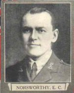 Photo of Edward Cuthbert Norsworthy– From The War Book of Upper Canada College, edited by Archibald Hope Young, Toronto, 1923.  This book is a Roll of Honour including former students who served during the First World War.
