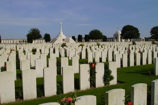 Cross of Sacrifice– Tyne Cot Cemetery … photo courtesy of Marg Liessens