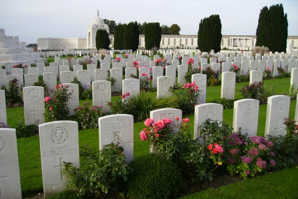 Tyne Cot Cemetery– Photo courtesy of Marg Liessens