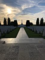 Tyne Cot Cemetery– Tyne Cot Cemetery at Sunset