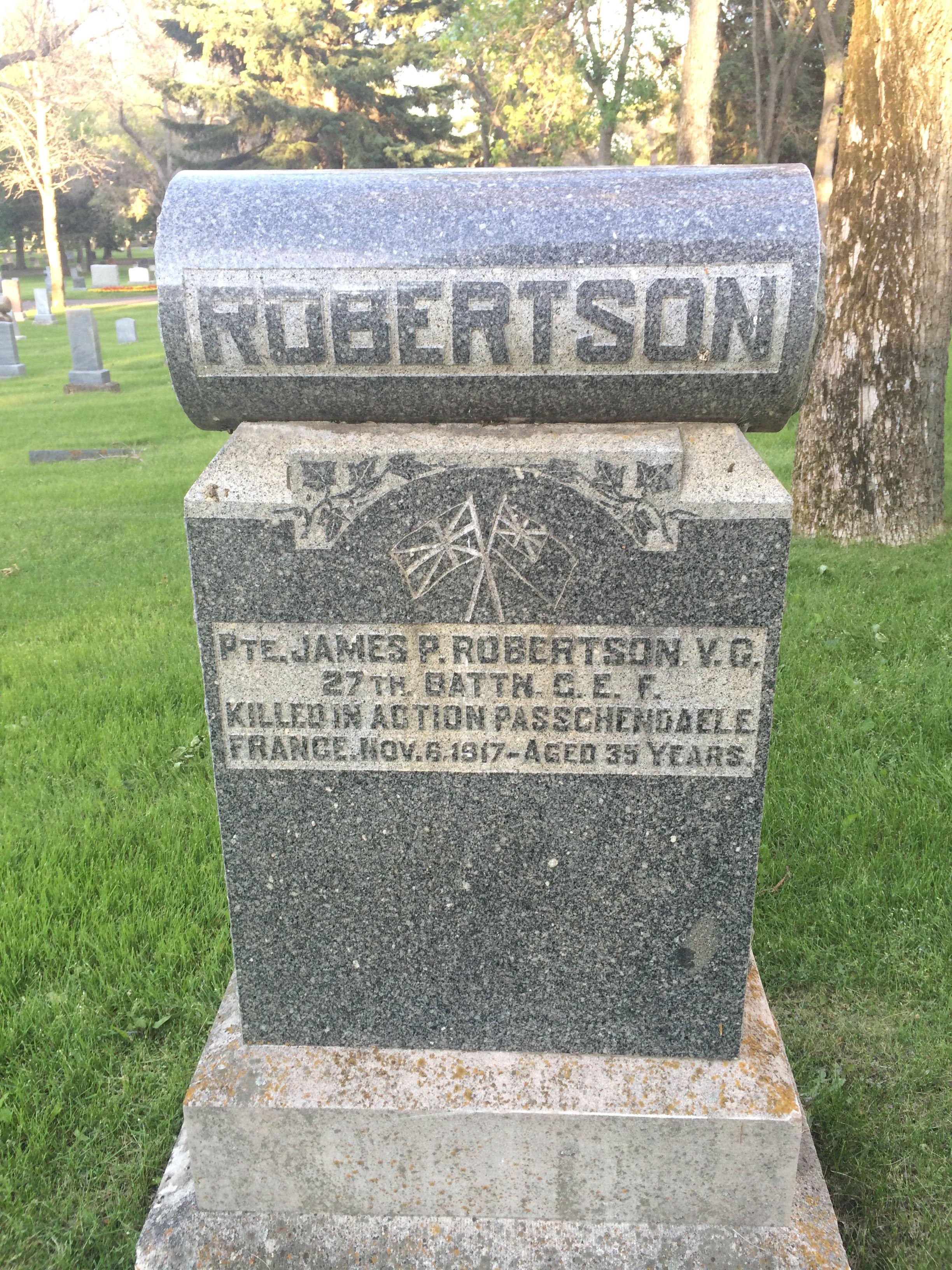 Family gravemarker– Commemorative headstone in MEDICINE HAT (HILLSIDE) CEMETERY, Alberta