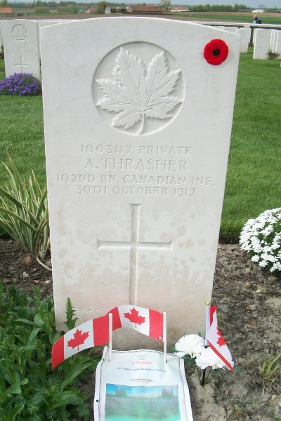 Grave Marker– Tyne Cot Cemetery - April 2017 … photo courtesy of Marg Liessens