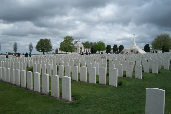 Cemetery– Tyne Cot Cemetery - April 2017 … photo courtesy of Marg Liessens
