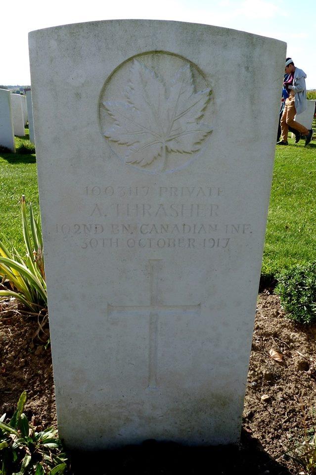 Grave marker– Allan thrasher headstone