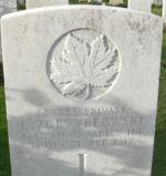 Grave Marker– Photo of grave courtesy of Mark Banning, England.