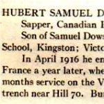 Rouleau de service – «Roll of Service 1914-1918» de l'Université de Toronto, publié en 1921.