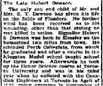 Coupre de presse – Tiré du Perth Courier du 24 août 1917.