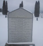War Memorial– Monument Pioneer Cemetery, Oxford Centre, Norwich Township, Oxford County
