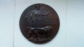 Memorial Plaque– WWI Death Plaque DAVID DOUGLAS WILSON