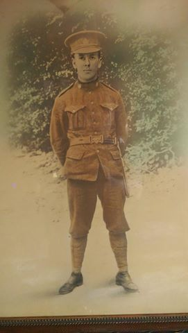 """Photo of ARCHIBALD CHARLES AMBROUS– Picture of Private Archibald Ambrous, reg. no. 53994 courtesy of """"Rusty Nuts"""" from the 18th Battalion Facebook Group. From his personal collection."""