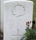 Grave Marker– Picture of Pvt. Hubert Cecil's gravestone in France