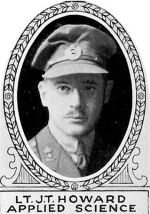 Photo of John Howard– From: The Varsity Magazine Supplement Fourth Edition 1918 published by The Students Administrative Council, University of Toronto.   Submitted for the Soldiers' Tower Committee, University of Toronto, by Operation Picture Me.