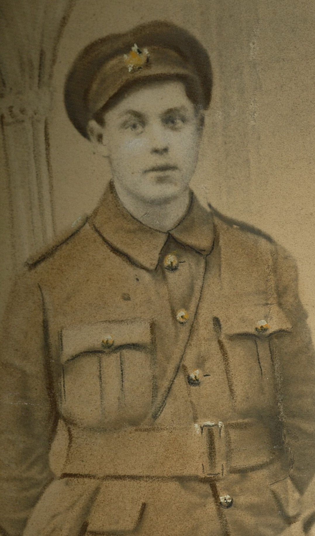 Photo of EDWARD JOSEPH ALCOCK– photo courtesy of the Alcock family, the Lake of the Woods Museum, and the Kenora Great War Project
