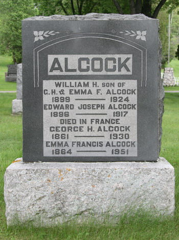 Family Memorial– family grave marker, Lake of the Woods Cemetery, Kenora, courtesy of Kenora Great War Project