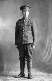Photo of Clarence Otto Harvey– Harvey, Pte., Clarence Otto 657704  Born May 11, 1897 to Peter B. and Theressa Harvey of McKellar Ontario Died May 4, 1917 in service to his country   His memory lived on in 9 nieces and nephews; and all of their children; and their children's children.