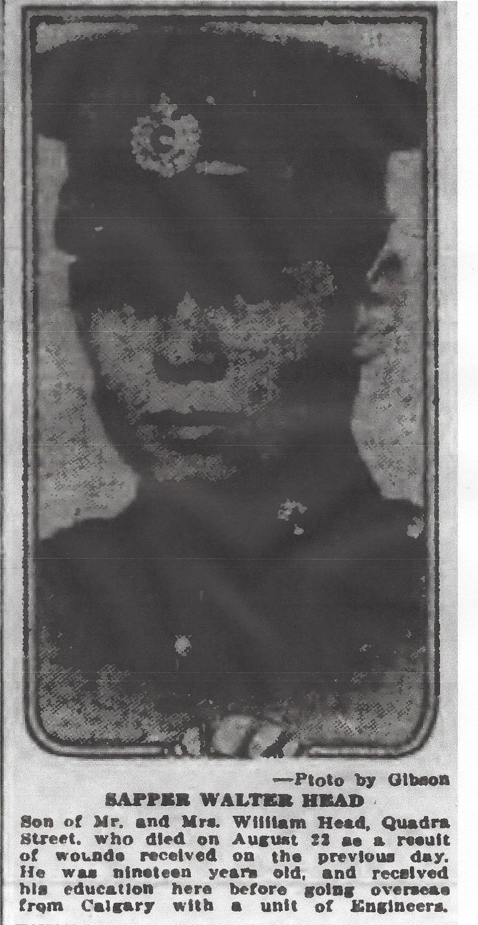 Newspaper Clipping– From the Daily Colonist of September 2, 1917. Image taken from web address of http://archive.org/stream/dailycolonist59y229uvic#page/n0/mode/1up