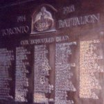 Memorial Plaque– John Kipping is remembered on this Memorial Plaque for the Third Battalion, Central Ontario Regiment. His service number reflects the series assigned to the Third Battalion, his battalion at the time of his attestation.