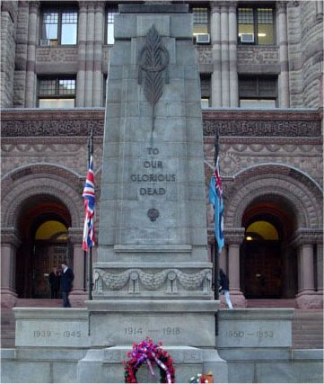 Toronto City Hall– Pte. Kipping's name is listed on the 204th (Beavers) memorial plaque located inside Toronto's Old City Hall, Queen Street, Toronto, Ontario.