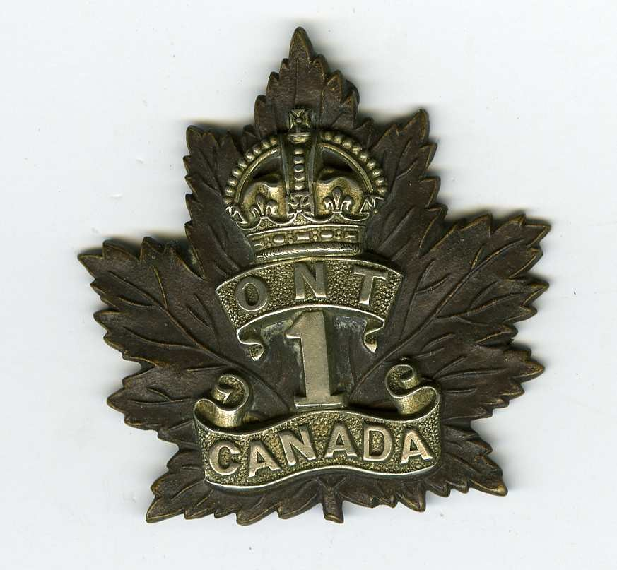 Badge– Cap Badge 1st Bn CEF.  Capt Nathan originally a member of the 15th Bn was transferred to the 1st Bn.  Sub,itted by 15th Bn Memorial Project Team.  DILEAS GU BRATH