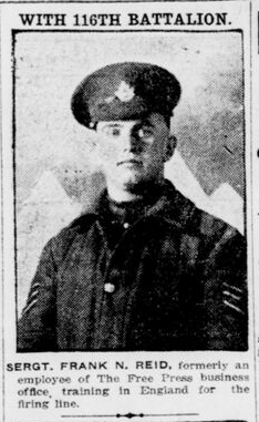 Newspaper clipping– From the London Free Press December 1916. Submitted for the project Operation Picture Me