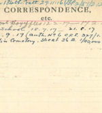 Record of Service– Record of Service Card (reverse side).  Archives 48th Highlanders of Canada.  Submitted by 15th bn Memorial Project Team.  DILEAS GU BRATH