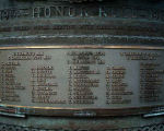 Inscription– Detail of the World War One names listed on the Japanese Canadian War Memorial, British Columbia.