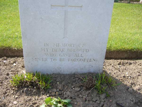 Grave Marker Inscription