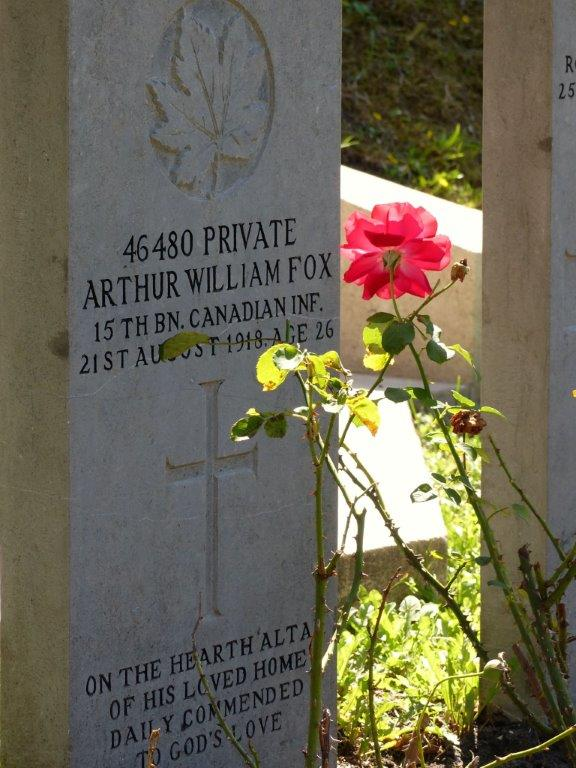 Grave Marker– Picture taken at the Commonwealth Graves section in the General Cemetery of The Hague, Netherlands