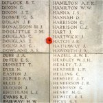 Inscription– There is also an inscription on plate 32 of the Menin Gate, Ypres, Belgium.